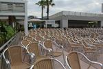 Универсален стол от алуминии за заведение за вътрешно и външно използване