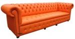 Диван Chesterfield в оранжево